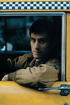 Robert De Niro during the filming of 1976 movie Taxi Driver.