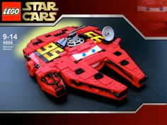 Lego Star Cars - Lightning McQueen + Millenium Falcon mash-up :) my son would go nuts for this.