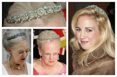 The Turquoise Daisy Bandeau Tiara. Collection of the Queen of Denmark.