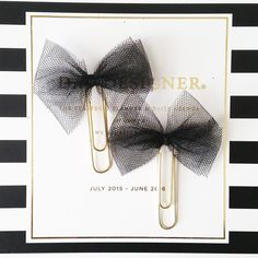 Check out this item in my Etsy shop https://www.etsy.com/listing/244161547/black-bow-planner-clip-planner-paper
