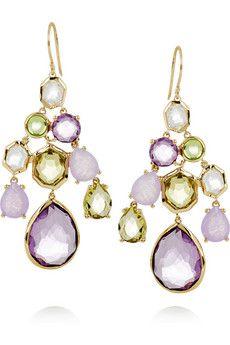 Gelato 18-karat gold multi-stone drop earrings by Ippolita