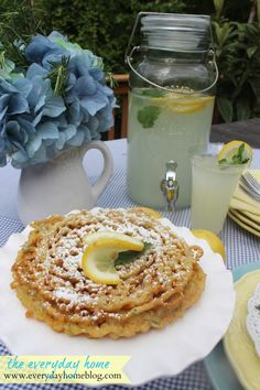 Lemon-Mint Funnel Cake