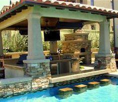an at-home swim-up bar....nice