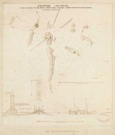Lighthouse prints | Trinity House, Eddystone with Hercules ship