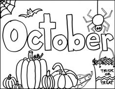 Printable Monthly Coloring Pages - The Empowered Provider Preschool Coloring Pages, Cute Coloring Pages, Coloring Pages For Kids, Fall Coloring Sheets, Printable Coloring Sheets, Preschool Writing, Fall Preschool, Cute Doodle Art, Cute Doodles