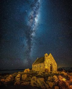 Starry nights at The Church Of Good Shepherd New Zealand _______________________________ Canon Samyang lens ISO 5000 sec exposures merged in LRcc Edited LR/Insta Exploring NZ with _________________________________ by brentpurcell_le. Destinations, Lake Tekapo, Canon 6d, Nature Music, Night Photography, Milky Way, New Zealand, Earth, Explore