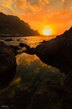 Sunset - Atardecer en Buenavista. Tenerife.