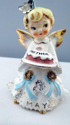 Lefton May Mother Cake  Angel Figurine    1987 (02/24/2016)