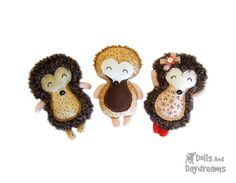 Hedgehog Sewing Pattern by Dolls And Daydreams, via Flickr