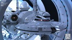 """Ok, these are just renders of what a possible Warp capable NASA starship could possibly look like. Its not real. In 2012 NASA announced that it was working to build a """"warp drive"""" that could enable """"faster than light"""" space travel. Spaceship Design, Spaceship Concept, Concept Ships, Concept Art, Nasa Spaceship, Spaceship Interior, Nasa Astronauts, Warp Drive, Faster Than Light"""