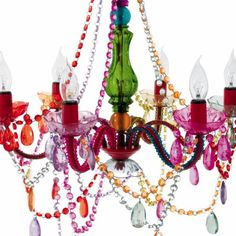 Multi colored gypsy chandelier present time whimsical lighting present time gypsy chandelier 6 arm multicolor with plug leitmotiv kroonluchter hanglamp silly kroonluchter gypsy esmeralda aloadofball Image collections