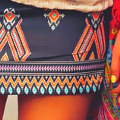 #Boho, #Kilim, Aztec Skirt