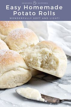 These potato rolls are incredibly soft, light and moist dinner rolls and the perfect choice for your holiday table or next to your soups or stews. Yeast Bread Recipes, Potato Dinner, Winter Soups, Holiday Tables, Soft Light, Dinner Rolls, Stew, Breads, Recipies