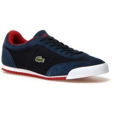 Lacoste Romeau Sneaker ($100) ❤ liked on Polyvore featuring men's fashion, men's shoes, men's sneakers and shoes