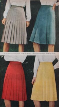 1940s pleated and A-line suit skirts