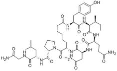 Deamino-Dicarba-Oxytocin. The science of love. Interesting how complicated it is.