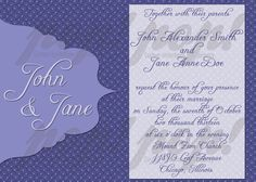Modern Purple Swirl Wedding Invitation by PopEnterprises on Etsy, $10.00 #printable #download #wedding #invitation