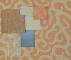 Woodrow / Tangerine with coordinating drapery, bedding and upholstery options!