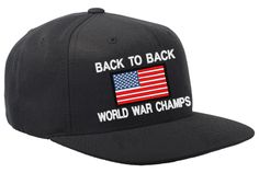 Back to Back World War Champs USA Snapback Hat  79277ee9954c