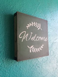 Welcome .... Hand Painted wood sign by Studio11Online on Etsy