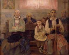 Misa en la ermita. José Benlliure Gil (Valencia, 1855-Valencia, 1937) fue un pintor español. Nació en el barrio de Cañamelar, en el seno de una familia de amplia tradición artística, no obstante, su propio hermano fue el escultor Mariano Benlliure, y él más tarde fue uno de los maestros de su otro hermano, Juan Antonio Benlliure.