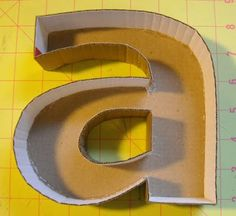 Make your own cardboard letters