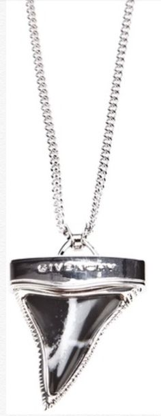 Silver Sharks Tooth necklace G