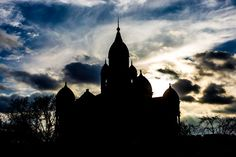 Stretched Canvas - Denton Texas Courthouse Silhouette