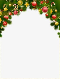 Fundo de Bola de natal decoração moldura, Bolas De Natal, Decoração, MolduraImagem PNG