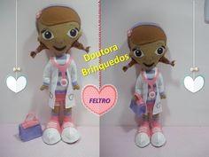 Passo a passo Doutora Brinquedos de feltro | Sarah Silva | - YouTube