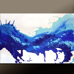 Abstract Art Canvas Painting 36x24 Original Modern by wostudios
