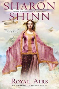 Royal airs by Sharon Shinn.  Click the cover image to check out or request the science fiction and fantasy kindle.