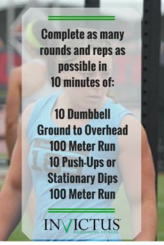 CrossFit Invictus Workout that you can do at home!