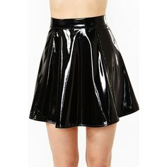 Slick Skater Skirt ($68) ❤ liked on Polyvore