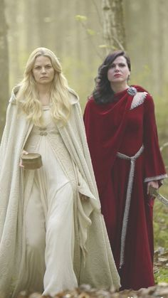 SwanQueen..... if you look at Emma's hand, it almost looks like they could be holding hands  Power Couple