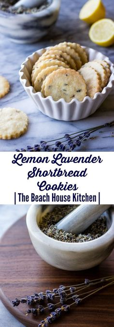 25 Crafty Reasons You Need to Grow Lavender Lemon Lavender Shortbread Cookies Cookie Desserts, Just Desserts, Cookie Recipes, Dessert Recipes, Cookie Favors, Cookie Cups, Baking Desserts, Snacks Recipes, Lemon Shortbread Cookies