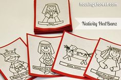 Nativity HedBanz Game - and focusing on the nativity activity ideas!