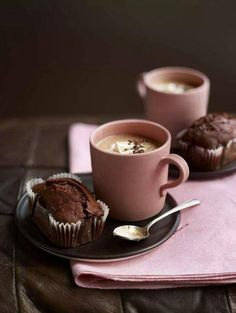 Hot chocolate & muffins