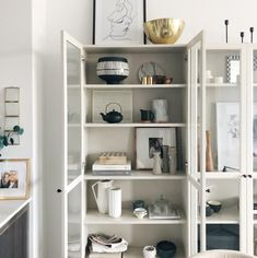 I feel like Ikea USA gets a bad rep sometimes, but ultimately I think it's really how you place it and how you style it. Ikea Kitchen Cabinets, Kitchen Cabinet Handles, Cupboards, Billy Ikea, Boutique Design, One Bedroom, Home Staging, Bookcase, Bookshelves