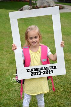 First Day of School photo idea...cute, fun & different!