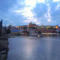 Prague Castle evening view