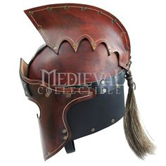 Praetorian Leather Crest Helm - RT-204 from Medieval Armour