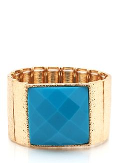 faceted square stretch bracelet $11.50