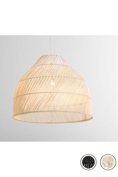 MADE Shade Small, Natural Rattan Neutral. Java Lamp Shades Collection from MADE.COM...
