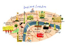 """""""Explore London"""" map by Clair Rossiter"""