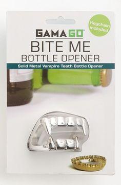 No joke: vampire teeth bottle opener at Nordstrom. $12