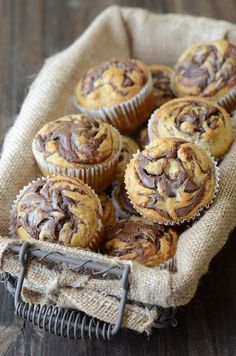 Nutella Banana Swirl Muffins from www.thenovicechefblog.com @The Novice Chef Blog {Jessica}