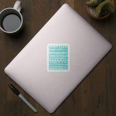 Check out this awesome 'Loose+bohemian+pattern+-+aqua' design on @TeePublic! #teepublic #cute #sticker #bohemian #bohochic #doodle #watercolor #illustration #aqua #turquoise #tribal #hippie