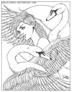 Feather Series: Swan by JowieLimArt.deviantart.com on @DeviantArt