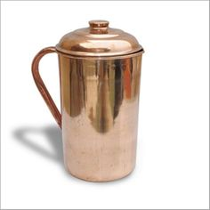 """Copper Pitcher Jug With  Handmade Best Quality 100% Pure Copper Jug. 8.5""""X 4.0"""""""
